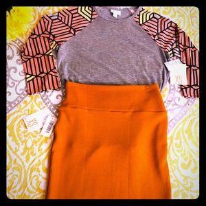LulaRoe Randy & Cassie skirt 3XL Outfit Lot Fall